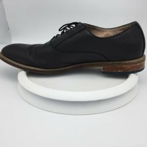 Aston Grey Collection Mens Black Leather Oxfords